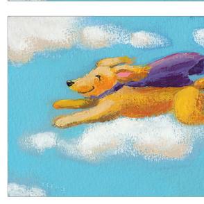 Wonder Dog - fun flying golden dog