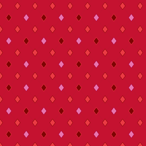 TEENY TINY Argyle: Reds and Pinks fabric by penina on Spoonflower - custom fabric