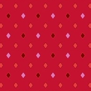TEENY TINY Argyle: Reds and Pinks