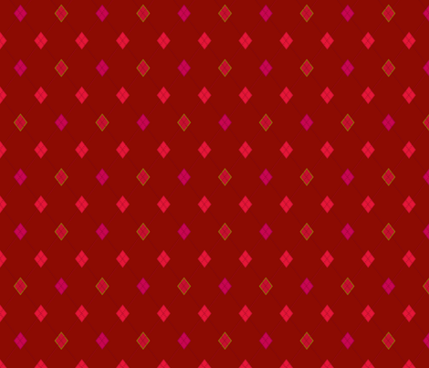 Mini Argyle: Reds, Pinks, Olive fabric by penina on Spoonflower - custom fabric