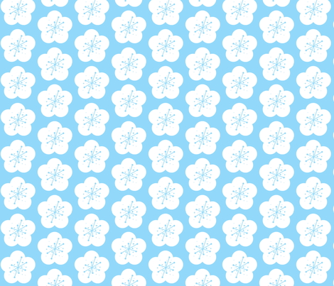 Ureshii Flowers fabric by natitys on Spoonflower - custom fabric