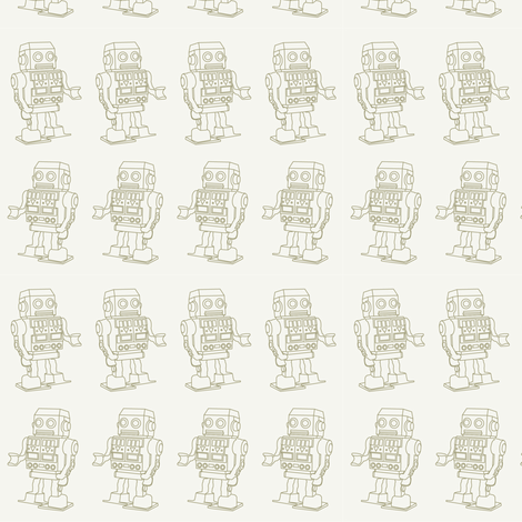 Robots  fabric by littleloup on Spoonflower - custom fabric