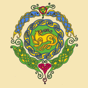 Celtic cat 8 mandala 1