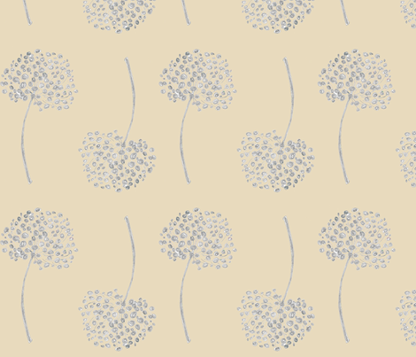 Allium Honesty fabric by joanne_headington on Spoonflower - custom fabric
