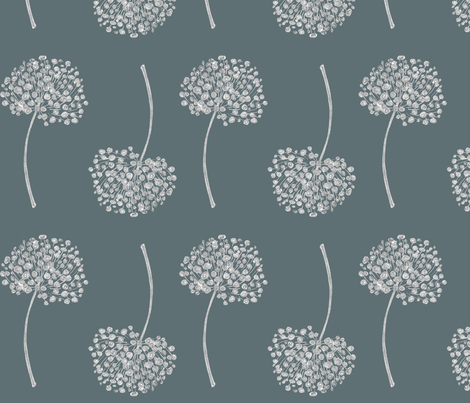 Allium Rain fabric by joanne_headington on Spoonflower - custom fabric