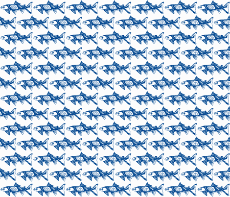 Fish fabric by littlebeardog on Spoonflower - custom fabric