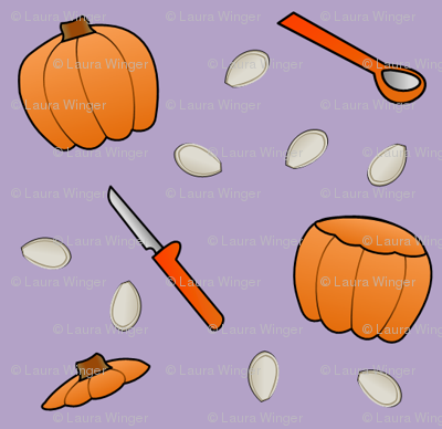 Pumpkin Carving - Lavender
