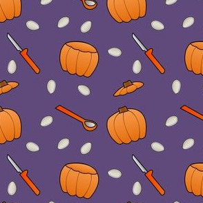 Pumpkin Carving - Purple