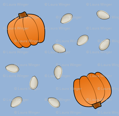 Pumpkins & Seeds - Blue
