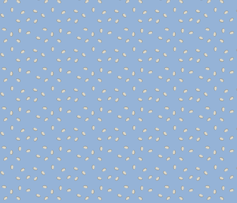 Pumpkin Seeds - Blue fabric by lowa84 on Spoonflower - custom fabric