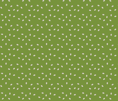 Pumpkin Seeds - Green fabric by lowa84 on Spoonflower - custom fabric