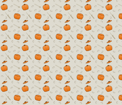 Pumpkin Carving fabric by lowa84 on Spoonflower - custom fabric