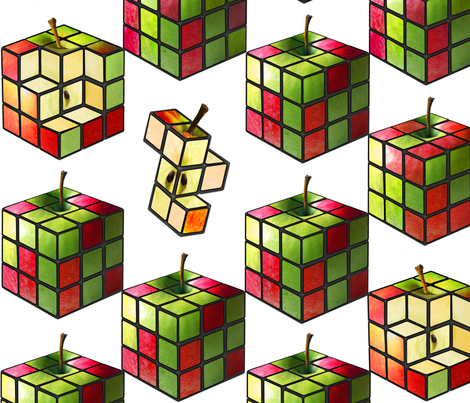 Rubixfruit Checker fabric by bekwith on Spoonflower - custom fabric