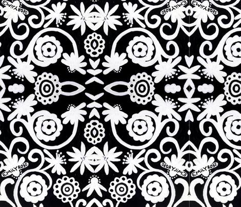 Doiley Flowers fabric by emmaleeerose on Spoonflower - custom fabric