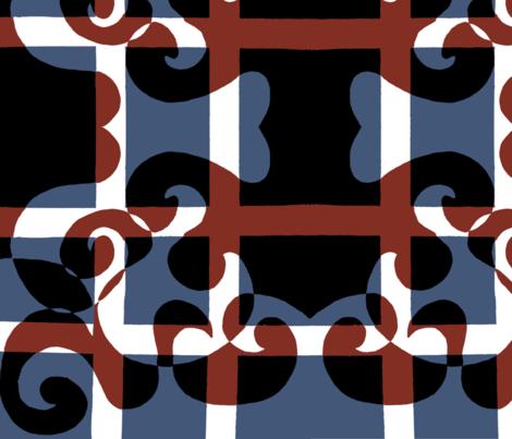 Fleur Americana fabric by emmaleeerose on Spoonflower - custom fabric