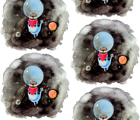 Space Otter fabric by jadegordon on Spoonflower - custom fabric