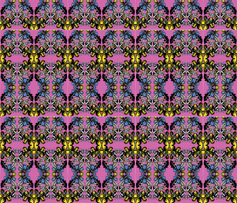 pink flowers fabric by emaleerose on Spoonflower - custom fabric