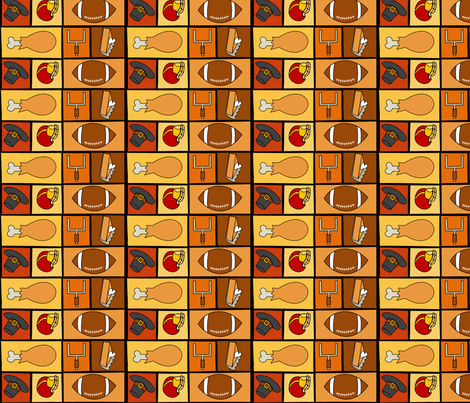 Thanksgiving & Football - Multidirectional fabric by lowa84 on Spoonflower - custom fabric