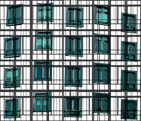 architect's plaid fabric by larissantoro on Spoonflower - custom fabric