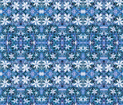 blueflowers fabric by emmaleeerose on Spoonflower - custom fabric