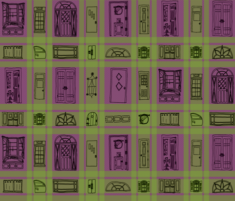 Windoorpane Plaid fabric by madam0wl on Spoonflower - custom fabric