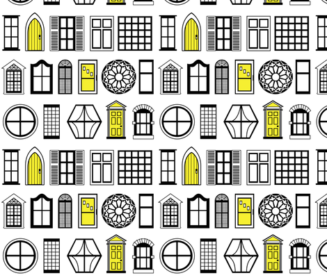 Highlighted Doors fabric by meganc0hen on Spoonflower - custom fabric