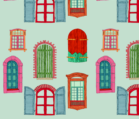 Wild Windows and Doors fabric by bella_modiste on Spoonflower - custom fabric