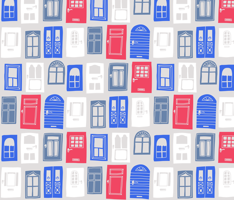 Portes & Fenêtres fabric by bellebo on Spoonflower - custom fabric