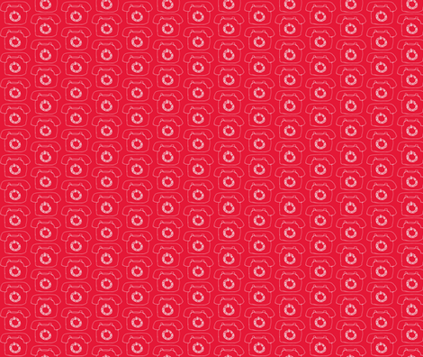 Telephone fabric by littlebeardog on Spoonflower - custom fabric