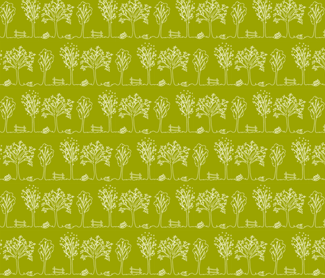 Fall Lines in Green fabric by mandyd on Spoonflower - custom fabric