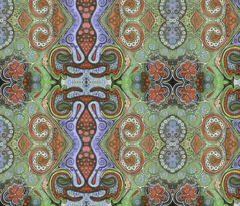 octopaisley fabric by emmaleeerose on Spoonflower - custom fabric