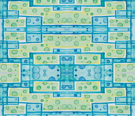 bubbles and blocks fabric by emaleerose on Spoonflower - custom fabric