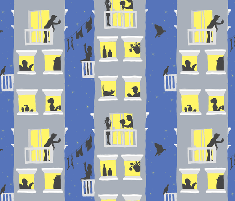 Urban Twilight fabric by tamarack on Spoonflower - custom fabric