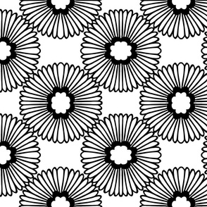 Flower - Black & White