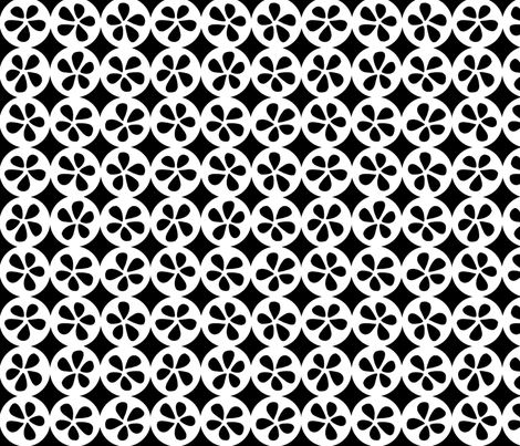 Pod - Black and White fabric by elephantandrose on Spoonflower - custom fabric