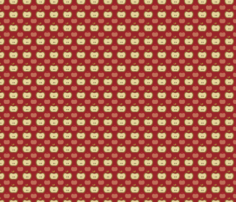 Apple Mod Pink fabric by sbd on Spoonflower - custom fabric
