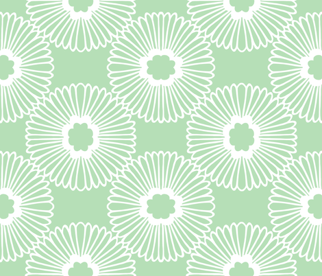 Flower - Mint fabric by jiah on Spoonflower - custom fabric