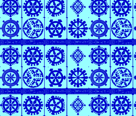 Blue Mandalas fabric by paulamarie on Spoonflower - custom fabric