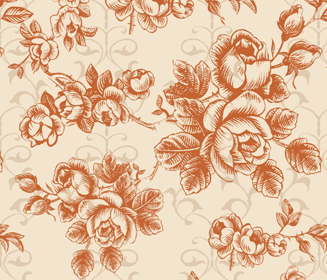 brown flower fabric by jshin on Spoonflower - custom fabric