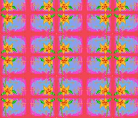 hibiscus fabric by namastemama on Spoonflower - custom fabric