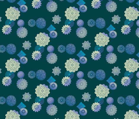 Snowy Night fabric by nalo_hopkinson on Spoonflower - custom fabric