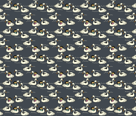 the swan boats fabric by heidikenney on Spoonflower - custom fabric