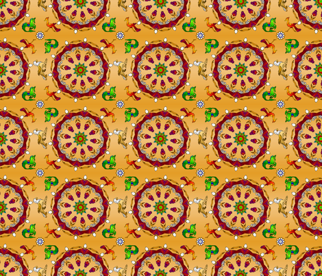 KaleidoCarousel150CK fabric by whatsit on Spoonflower - custom fabric