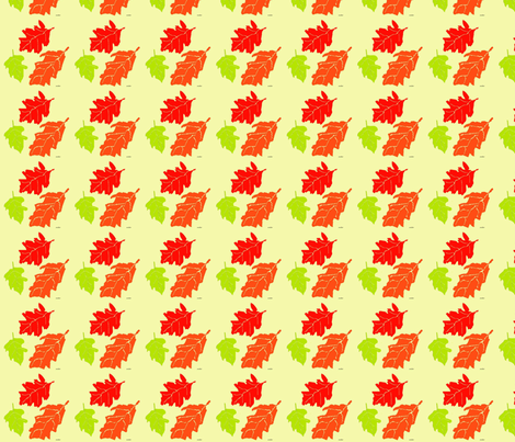 Oak Leaves fabric by snooky on Spoonflower - custom fabric