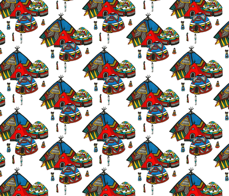 Houses Rise in Banpo fabric by patternbase on Spoonflower - custom fabric