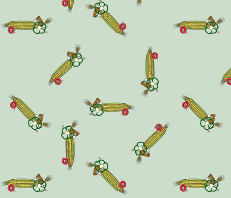 drive_your_veggies_tight_green fabric by victorialasher on Spoonflower - custom fabric