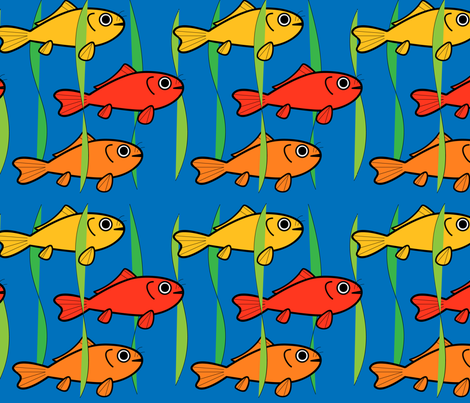 Carp Pond fabric by nekineko on Spoonflower - custom fabric