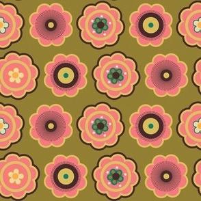 vintage floral brn sprinkle