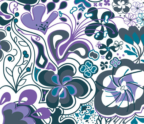 FlowerPower_2 fabric by luana_life on Spoonflower - custom fabric