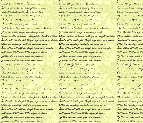 Continuous Sonnet 116 fabric by paulamarie on Spoonflower - custom fabric
